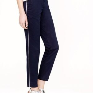J Crew Cafe Capri in Navy Tuxedo Stripe